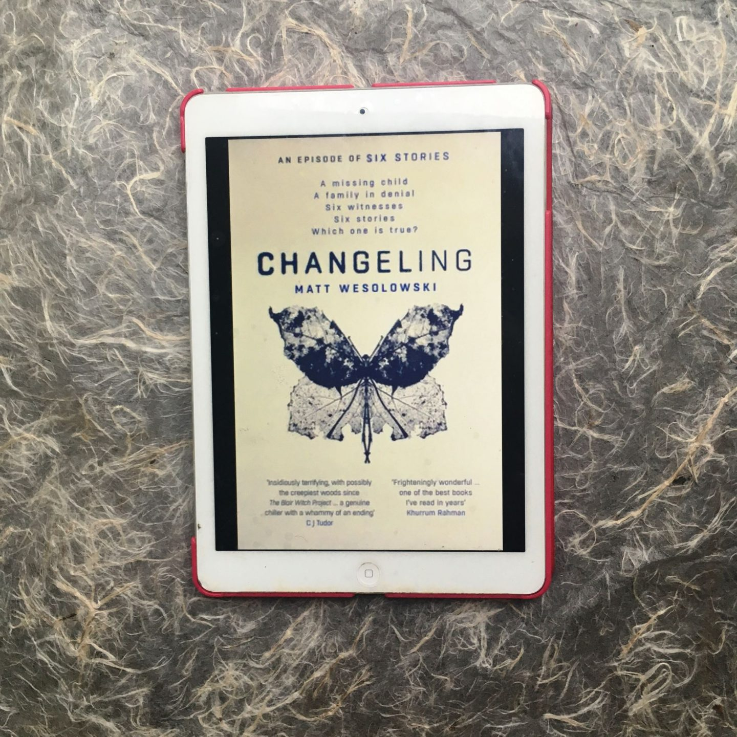 The cover of Changeling by Matt Wesolowski
