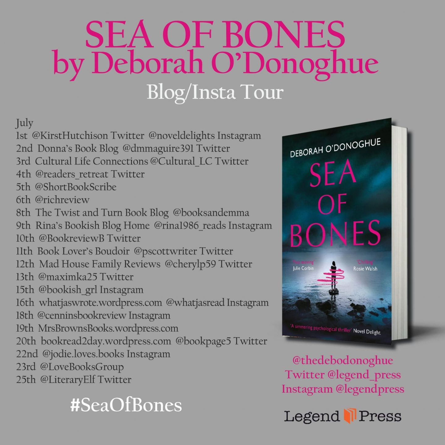 Sea of Bones blog tour poster