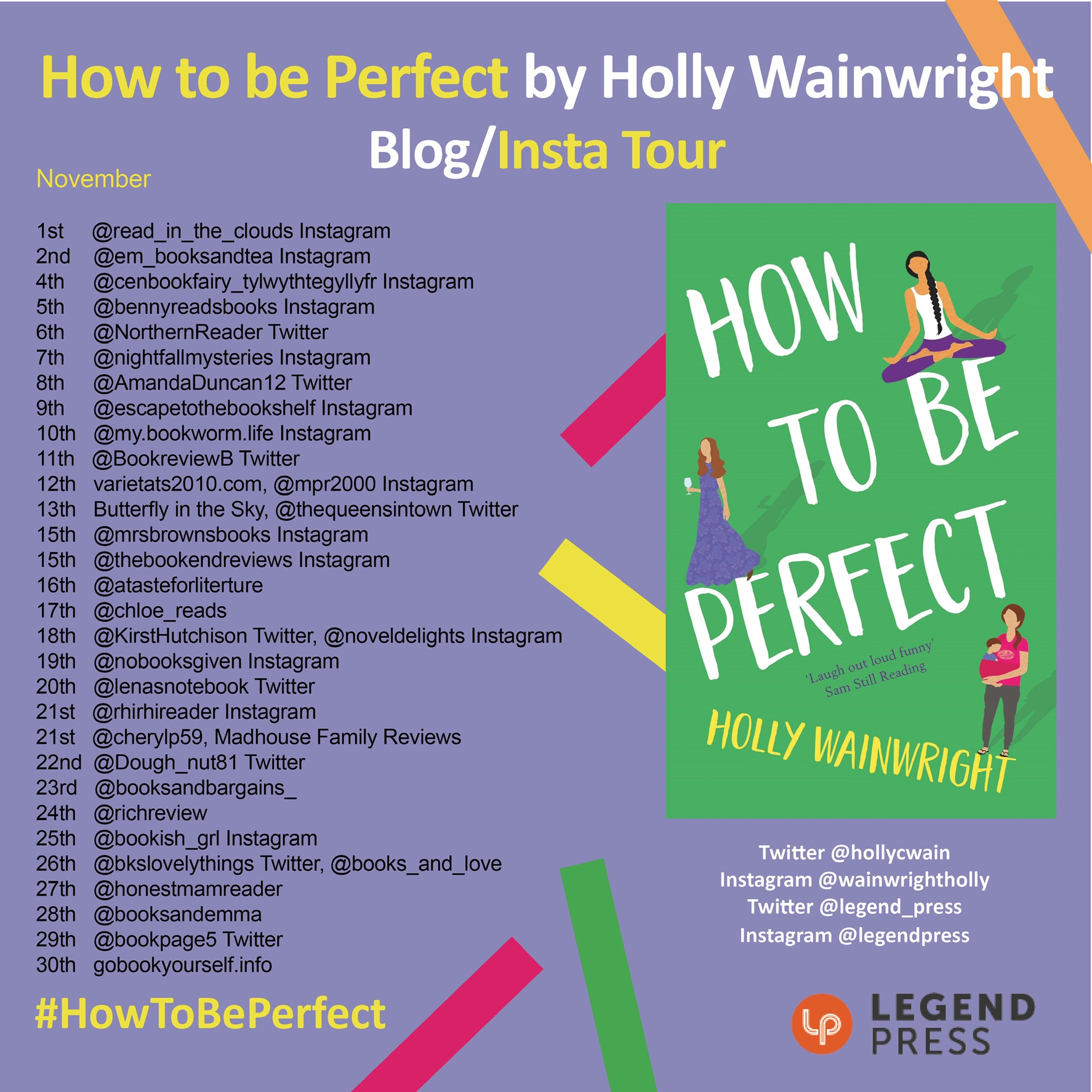 The  Blog/Insta tour poster of How To Be Perfect