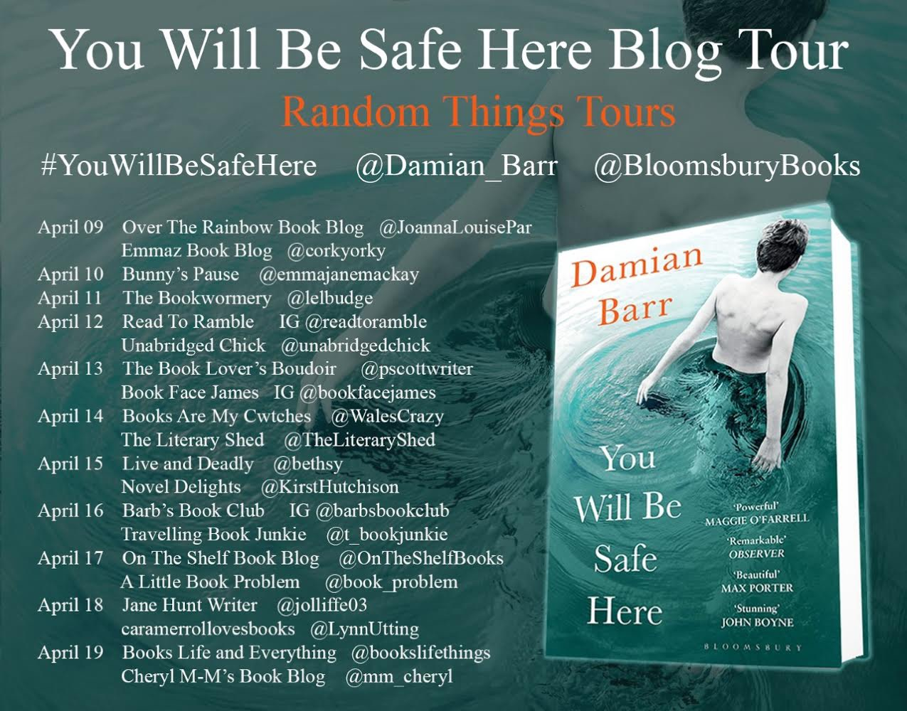 You Will Be Safe Here blog tour poster